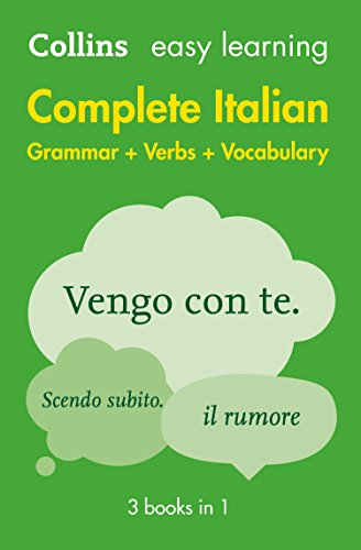 Easy Learning Italian Complete Grammar, Verbs and Vocabulary (3 books in 1) (Collins Easy Learning Italian) from Collins