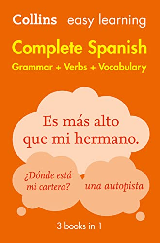 Easy Learning Spanish Complete Grammar, Verbs and Vocabulary (3 books in 1) (Collins Easy Learning Spanish) from HarperCollins Publishers