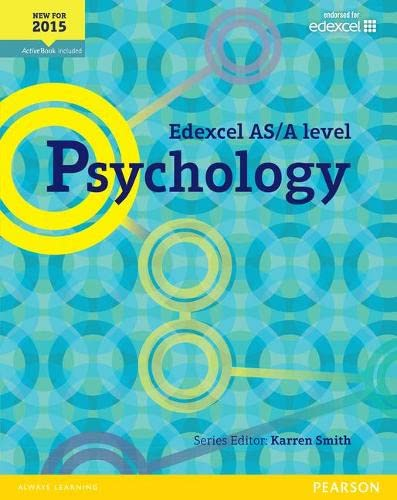 Edexcel AS/A Level Psychology Student Book + ActiveBook (Edexcel GCE Psychology 2015) from Pearson Education Limited