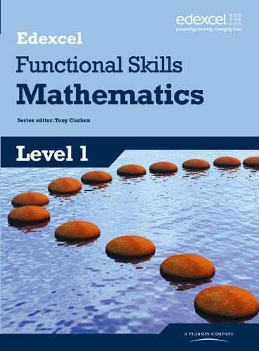 Edexcel Functional Skills Mathematics Level 1 Student Book (Edexcel Functional Maths) from Pearson Education Limited