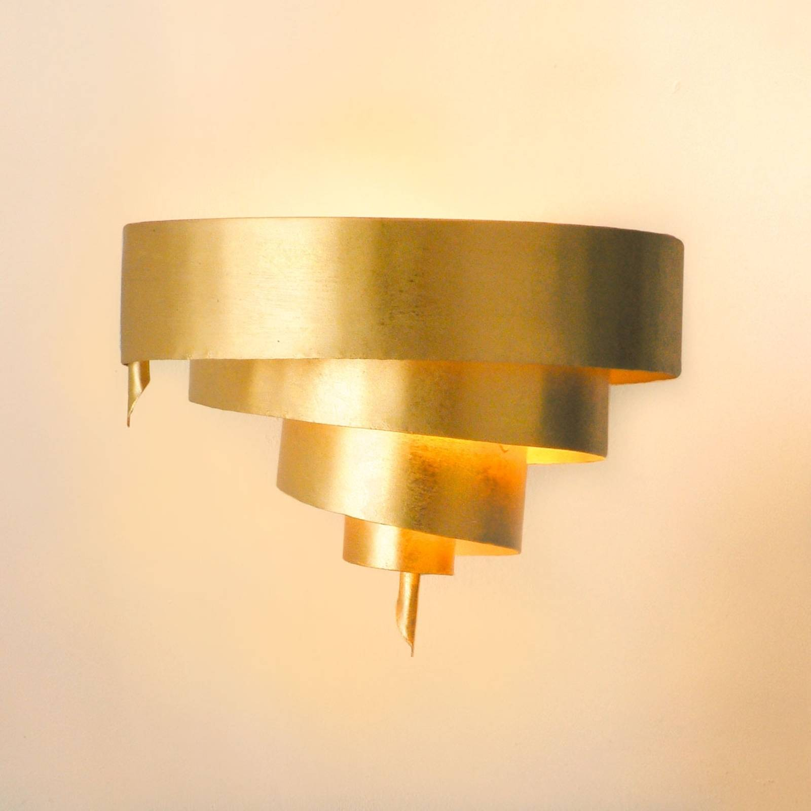 Elegant wall lamp CICLONE in gold from J. Holländer