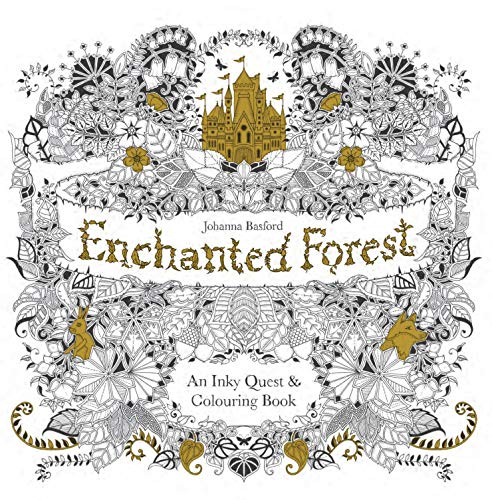 Enchanted Forest: An Inky Quest & Colouring Book from Joanna Basford