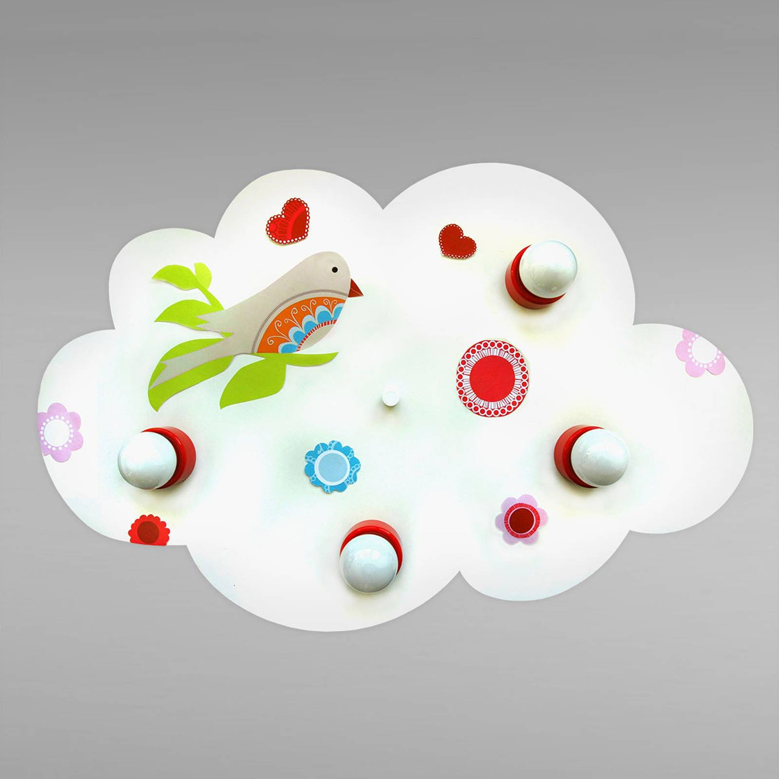 Enchanting Cloud bird of paradise ceiling light from Waldi-Leuchten