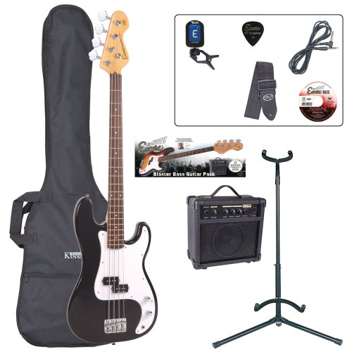 Encore EBP-E4BLK Elec. Bass Guitar Outfit - Black from Encore