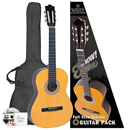 Encore ENC44OFT Natural Wood Full Size Classic Guitar Outfit from Encore