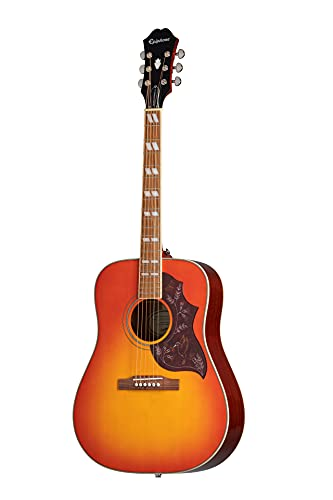 Epiphone Hummingbird Pro Solid Top Acoustic/Electric Guitar, Spruce and Mahogany Body, Rosewood Fingerboard from Epiphone