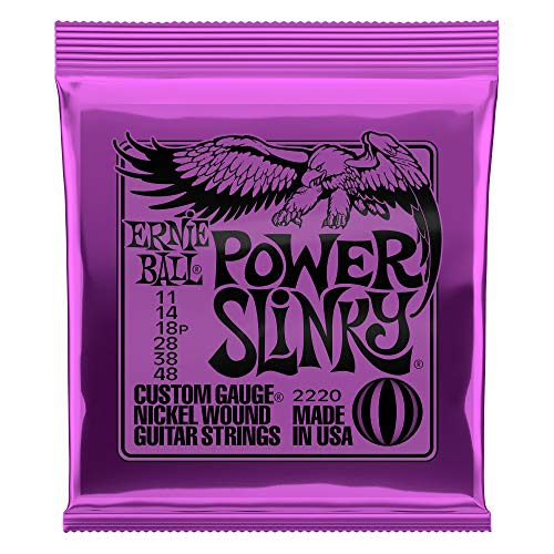 Ernie Ball Power Slinky Nickel Wound Electric Guitar Strings - 11-48 Gauge from Ernie Ball