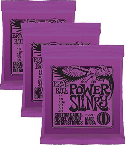 Ernie Ball Power Slinky Nickel Wound Sets, .011 - .048, Bundle of 3 Sets from Ernie Ball