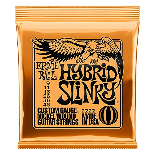 Ernie Ball Hybrid Slinky Nickel Wound Electric Guitar Strings - 9-46 Gauge from Ernie Ball