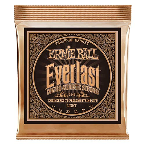 Ernie Ball Everlast Light Coated Phosphor Bronze Acoustic Set, .011 - .052 from Ernie Ball