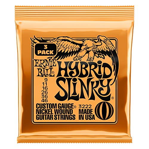 Ernie Ball Hybrid Slinky Nickel Wound Electric Guitar Strings 3 Pack - 9-46 Gauge from Ernie Ball