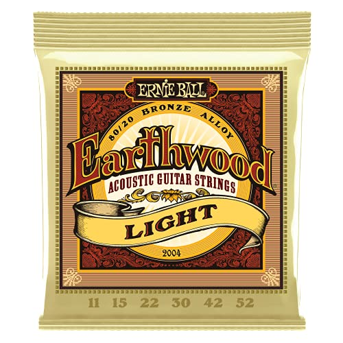 Ernie Ball Earthwood Light 80/20 Bronze Acoustic Set, .011 - .052 from Ernie Ball