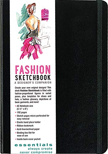 Essentials Fashion Sketchbook (360 Figure Templates to create your designs!) from Peter Pauper Press