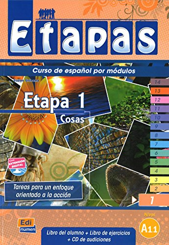 Etapa 1 Cosas: Student Book + Exercises + CD (Metodos De Espanol/ Spanish Methods) from Editorial Edinumen