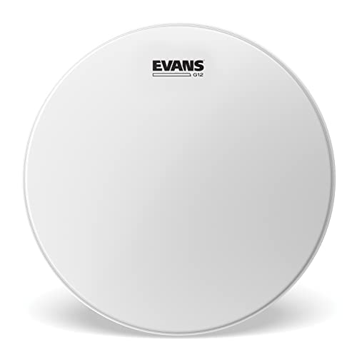 Evans 8 Inch G12 Coated Drum Head - White from Evans