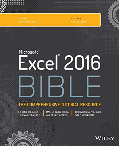 Excel 2016 Bible from John Wiley & Sons