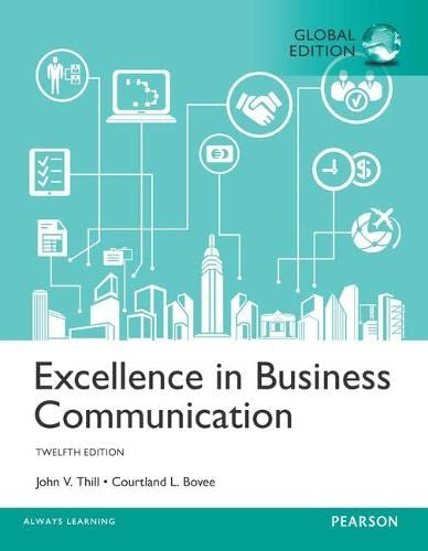 Excellence in Business Communication, Global Edition from Pearson
