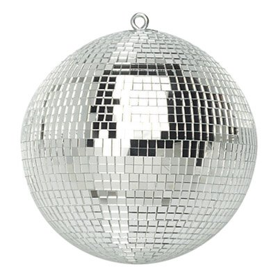FXLab G007A 8-Inch Party Disco Mirror Ball - Shiny Silver from FX Lab