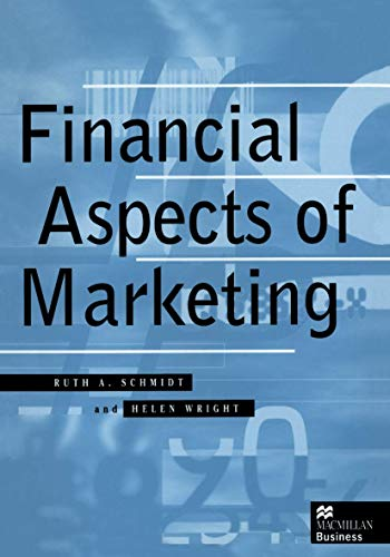 Financial Aspects of Marketing (Macmillan business) from Palgrave