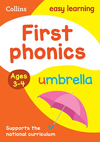 First Phonics Ages 3-4 (Collins Easy Learning Preschool) from HarperCollins Publishers