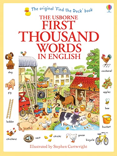 First Thousand Words in English (Usborne First Thousand Words) from Usborne Publishing Ltd