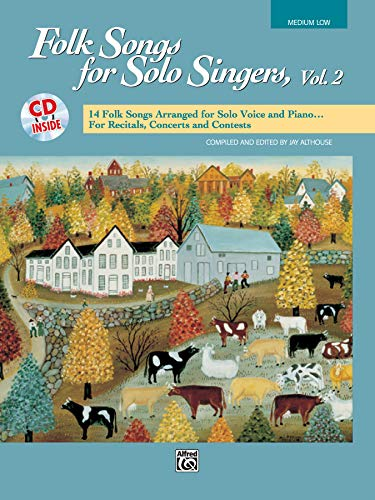 Folk Songs for Solo Singers, Vol 2: Medium Low Voice, Book & CD from Alfred Music