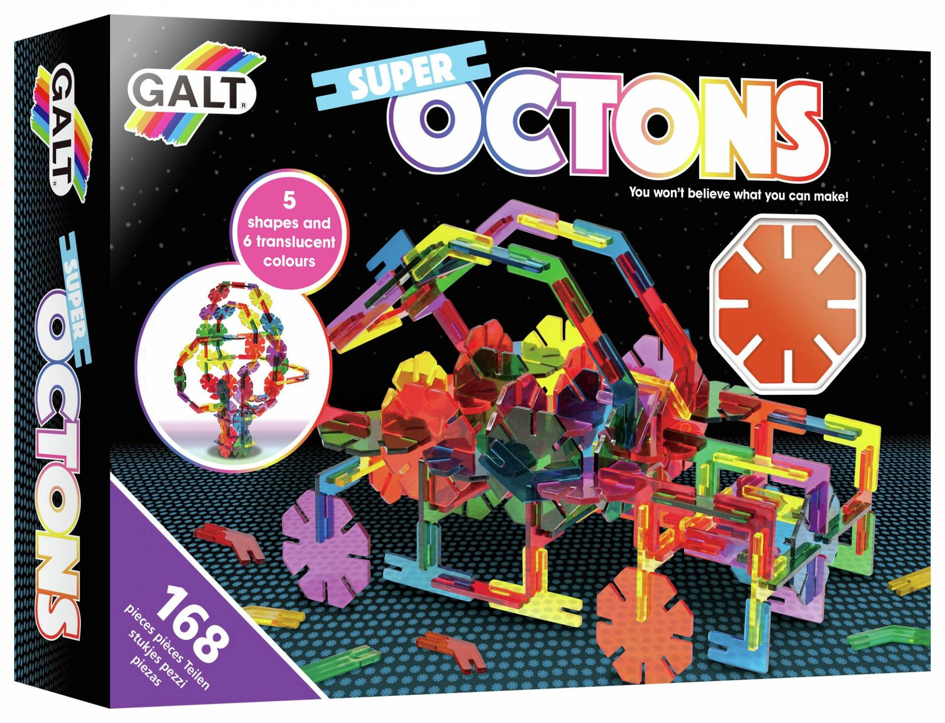 Galt Toys Super Octons Construction Toy - 168 Pieces from Galt Toys