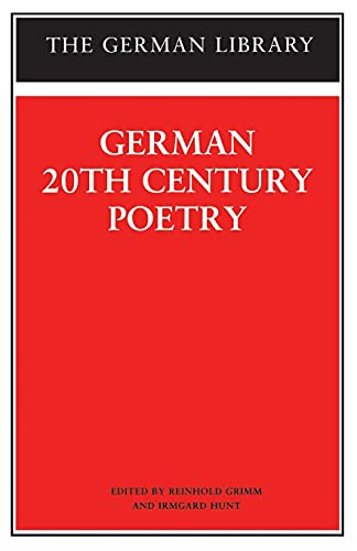 German 20th Century Poetry (The German library) from Continuum