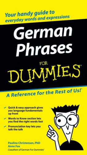 German Phrases For Dummies from For Dummies