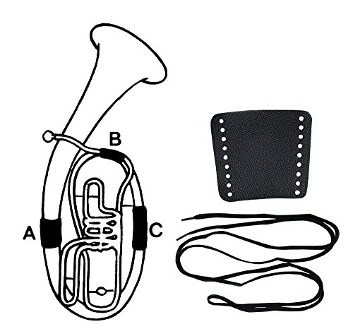 "Gewa""French Horns"" Valve Guard Leather String Fastener from PURE GEWA"