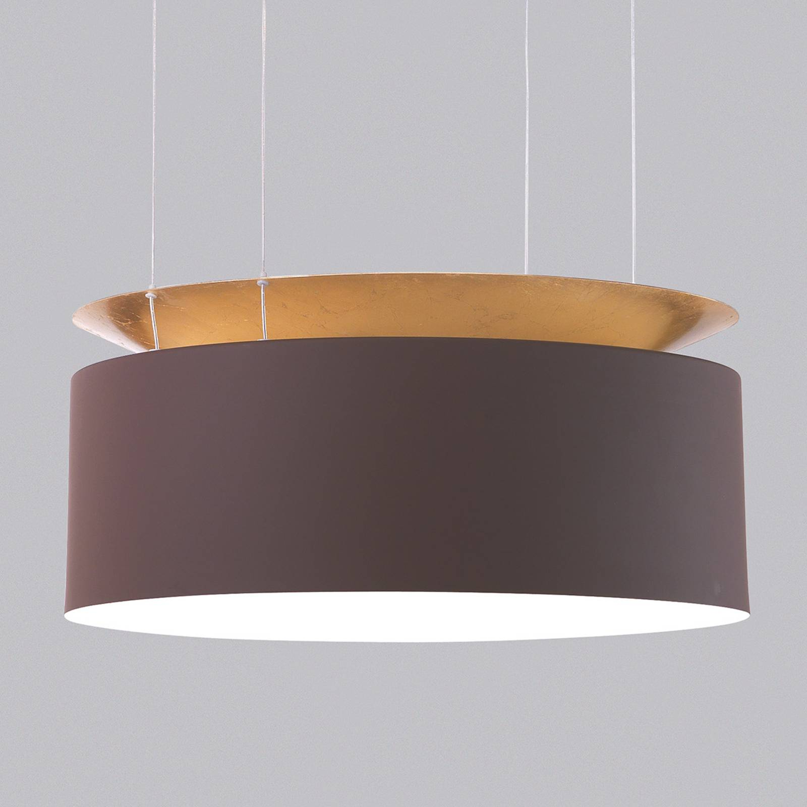 Gold-brown LED hanging light Eclisse from MINI TALLUX