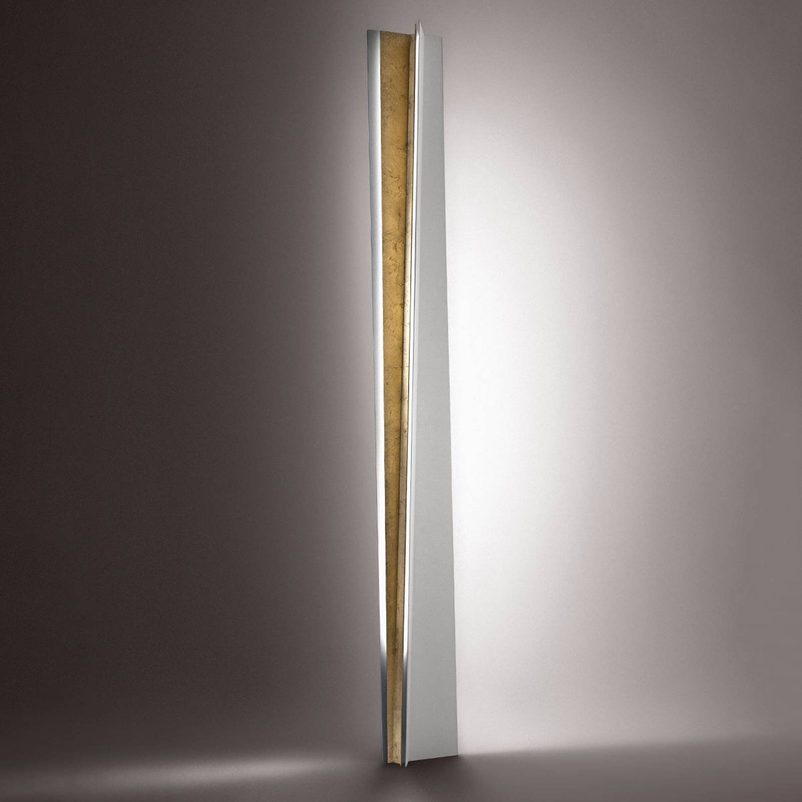 Gold leaf - Reverse floor lamp from ICONE