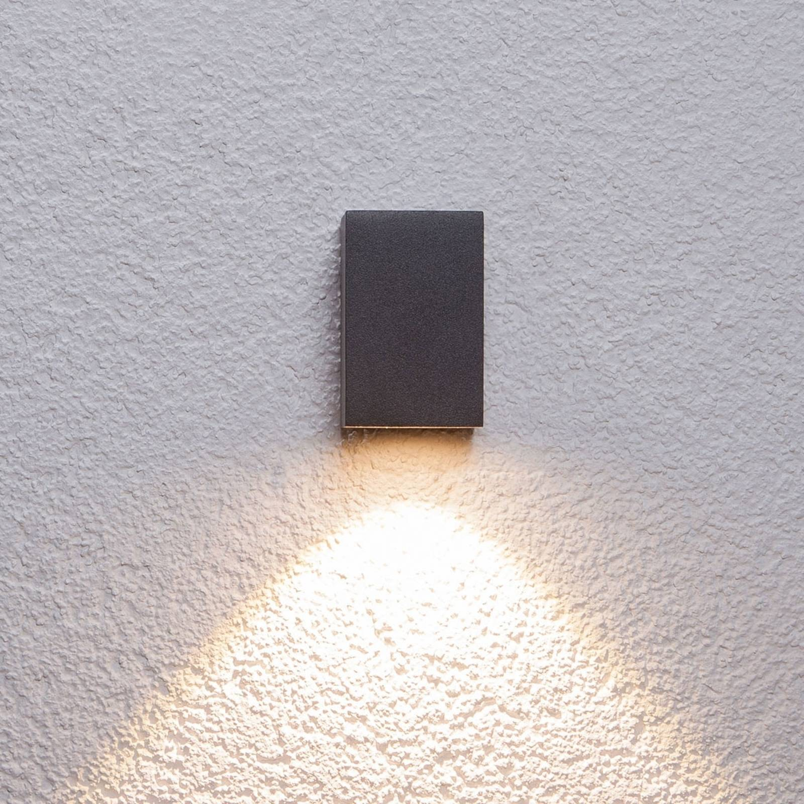 Graphite grey LED outdoor wall light Tavi, 9.5 cm from Lucande