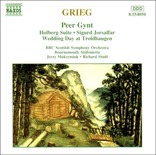Grieg - Orchestral Music: Peer Gynt, Holberg Suite, Sigurd Jorsalfar, Wedding Day at Troldhaugen.