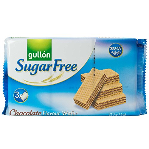 Gullon Sugar Free Chocolate Flavour Wafer 210g - Pack of 2 from gullon