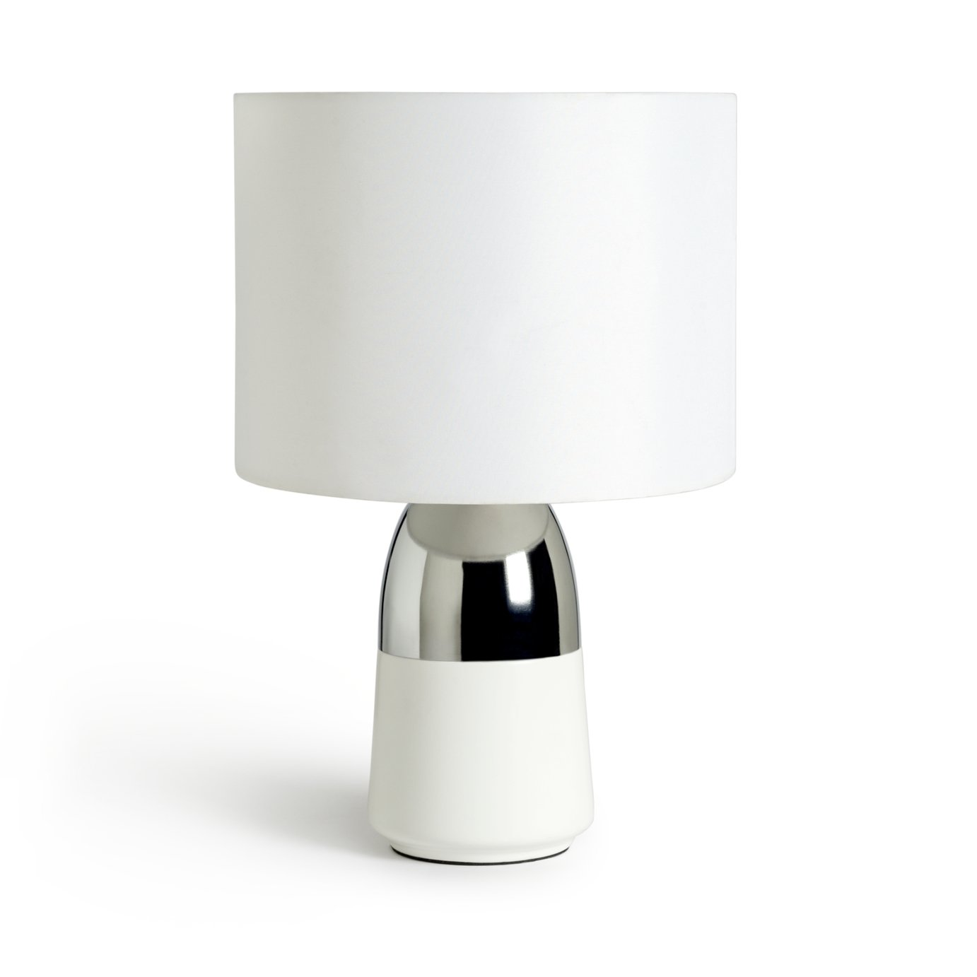 Argos Home - Duno Touch - Table Lamp - White & Chrome from Argos Home