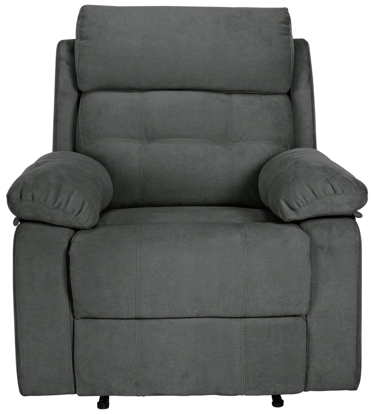 HOME June Fabric Manual Recliner Chair - Charcoal from HOME by Argos