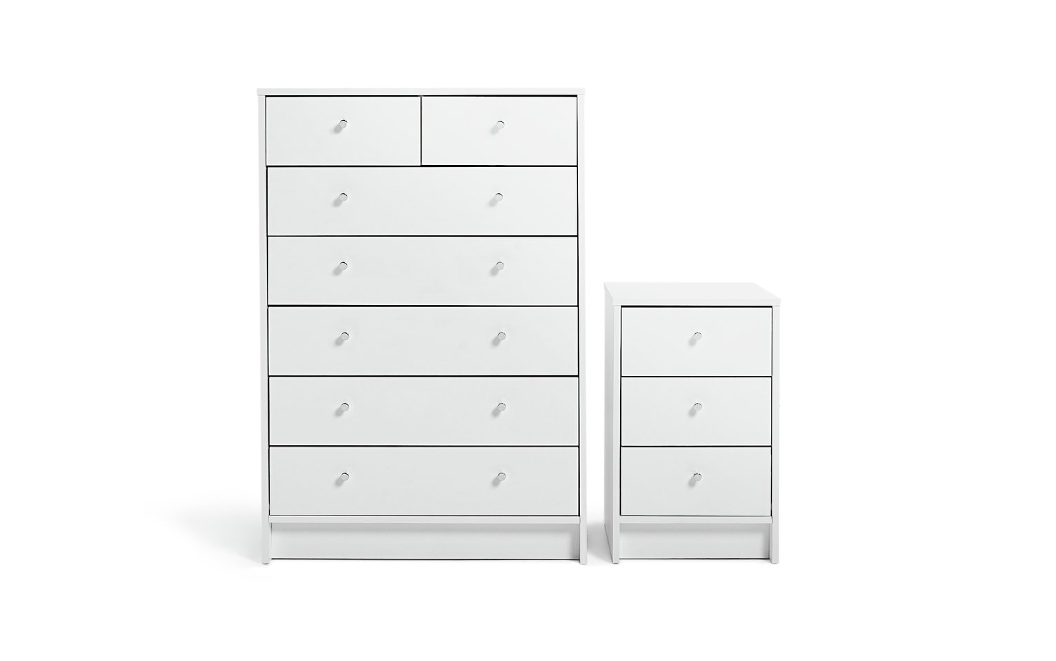 Argos Home Malibu Bedside & 5+2 Drawer Package - White from Argos Home