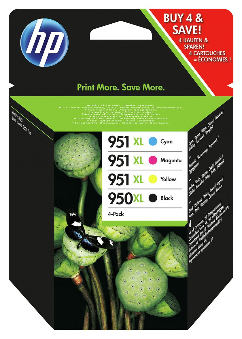 HP 950XL/951XL Black/Tri Colour Ink Cartridge Pack from HP