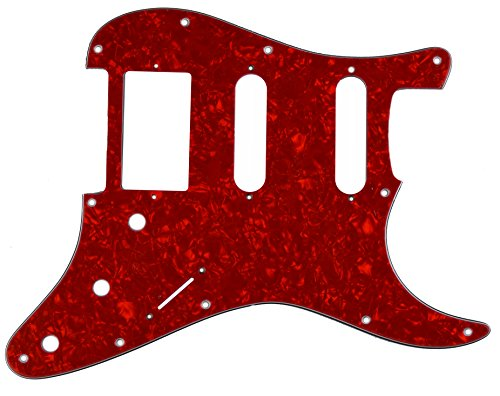 HSS Stratocaster Strat Scratchplate Pickguard for USA, MEX Fender - Red Pearl 3-ply from Northwest Guitars