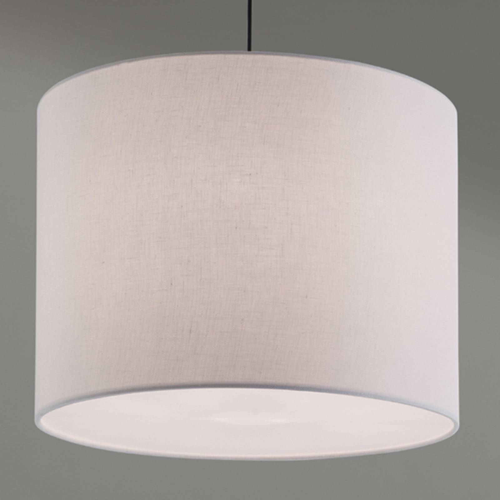 Hanging light Artak with a white fabric lampshade from Orion