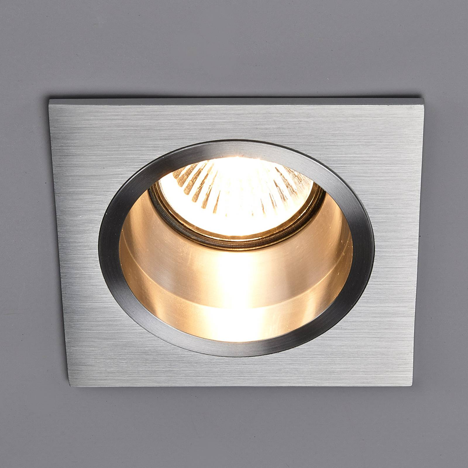 High voltage recessed light Soley, square from Lampenwelt.com