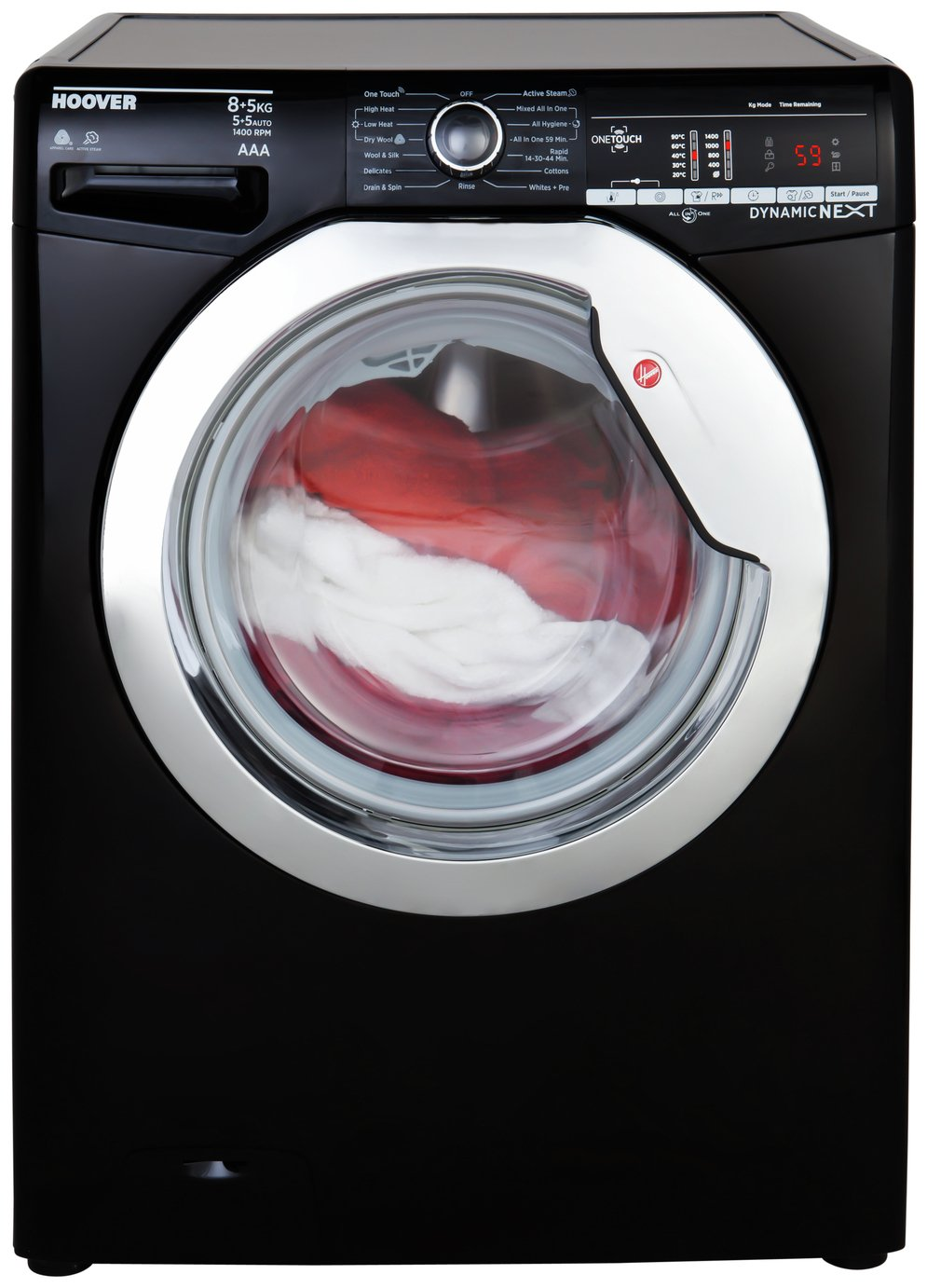 Hoover WDXOAC485CB 8KG / 5KG Washer Dryer - Black from Hoover