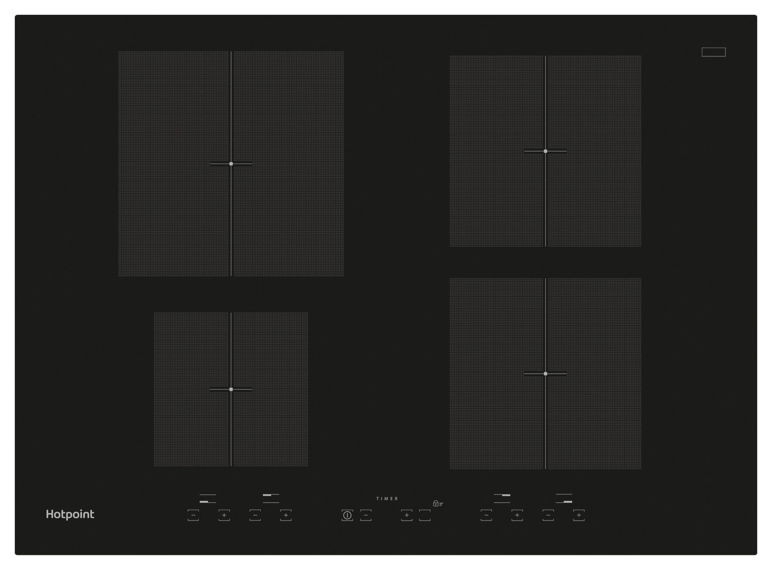 Hotpoint CID740B Induction Hob - Black. from Hotpoint