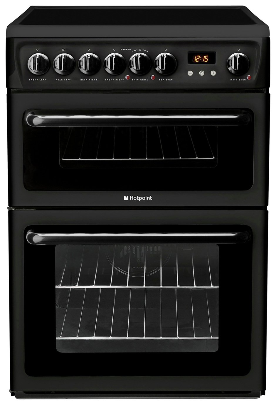 Hotpoint HAE60K Double Freestanding Electric Cooker - Black from Hotpoint