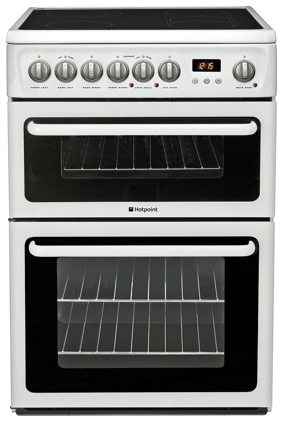 Hotpoint HAE60P Double Freestanding Electric Cooker - White from Hotpoint