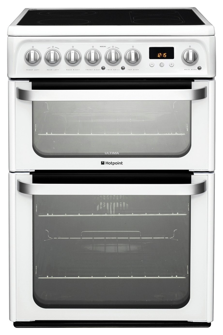 Hotpoint HUE61PS Double Electric Cooker - White from hotpoint