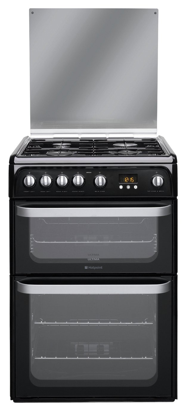 Hotpoint HUG61K Double Gas Cooker - Black from Hotpoint