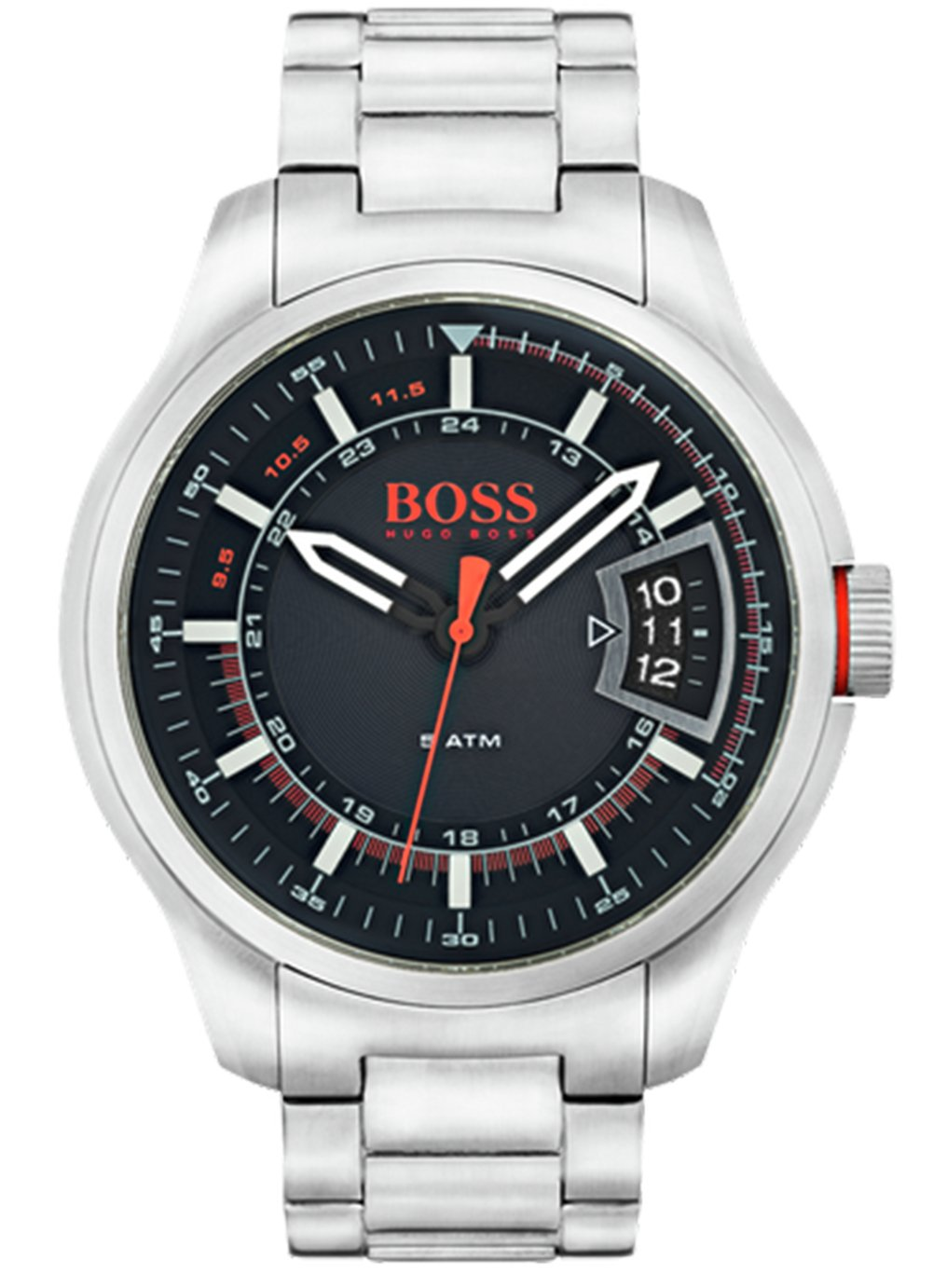f54a8befdedb Hugo Boss Orange Hong Kong Men s Silver Steel Watch from Hugo Boss