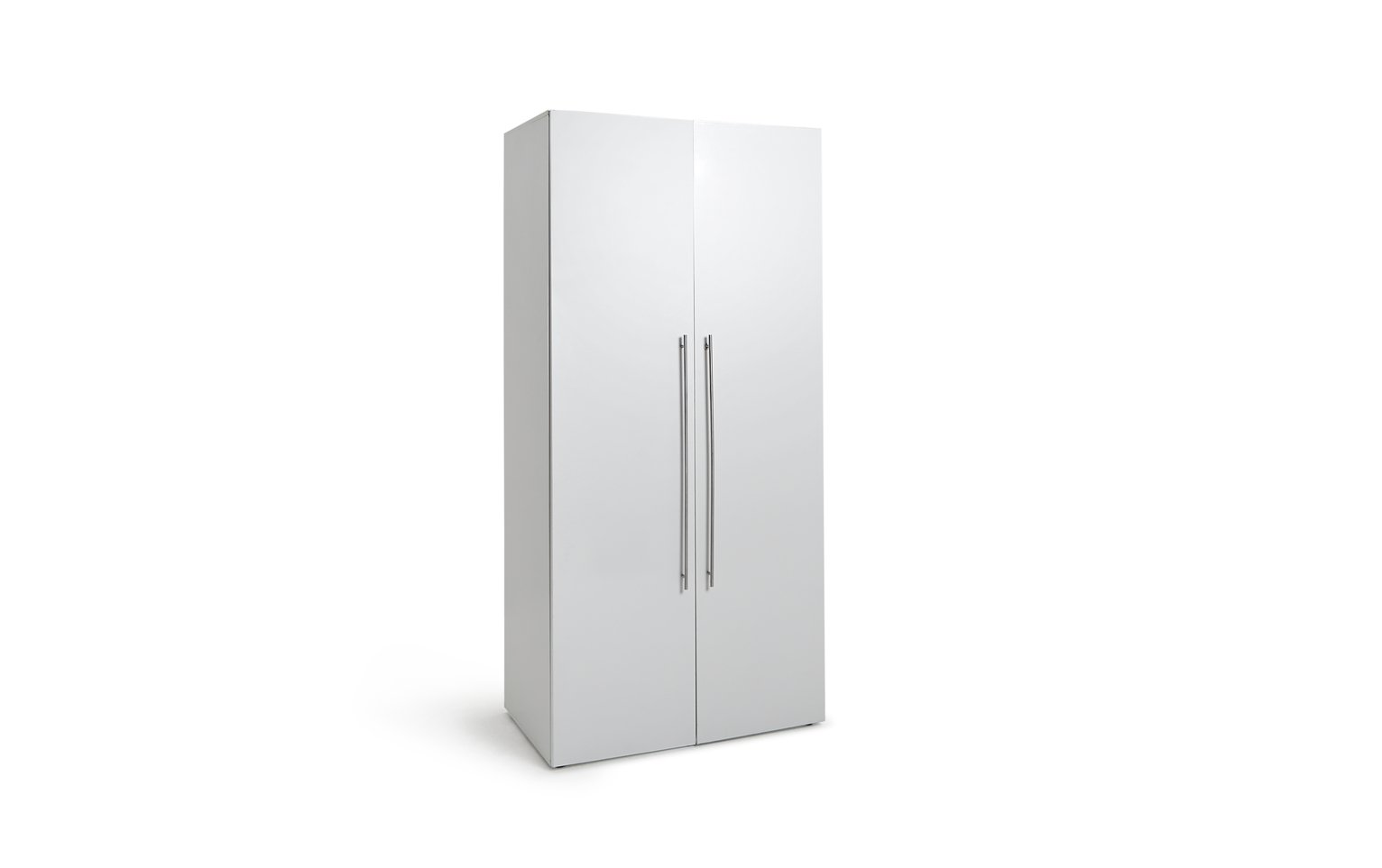 Hygena Atlas 2 Door Wardrobe - White Gloss from Hygena